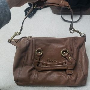 Tan Leather Coach Satchel
